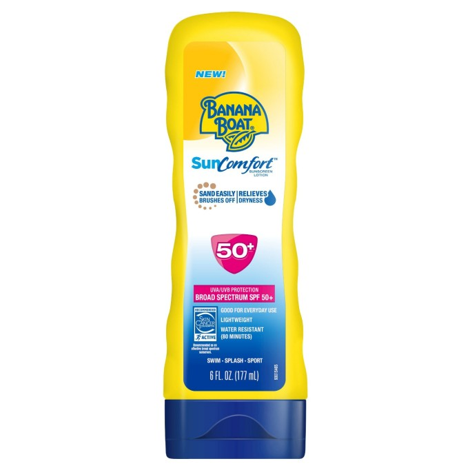 Banana Boat SunComfort sunscreen lotion, SPF 50+