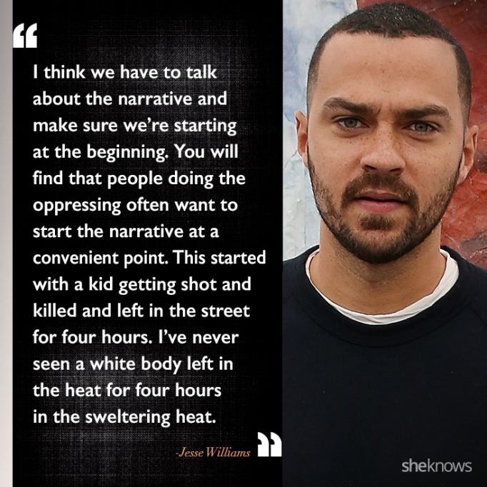 Jesse Williams race quote
