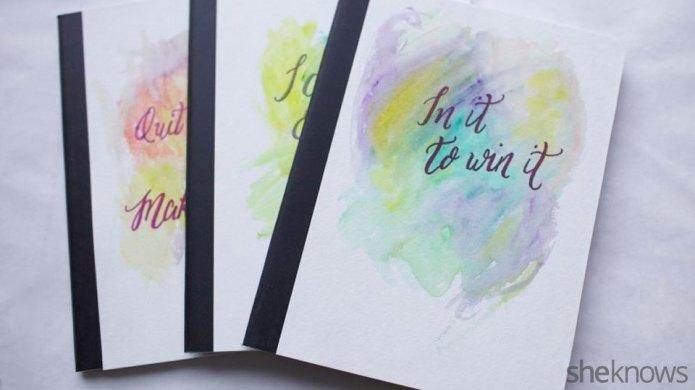 DIY watercolor journals — an easy