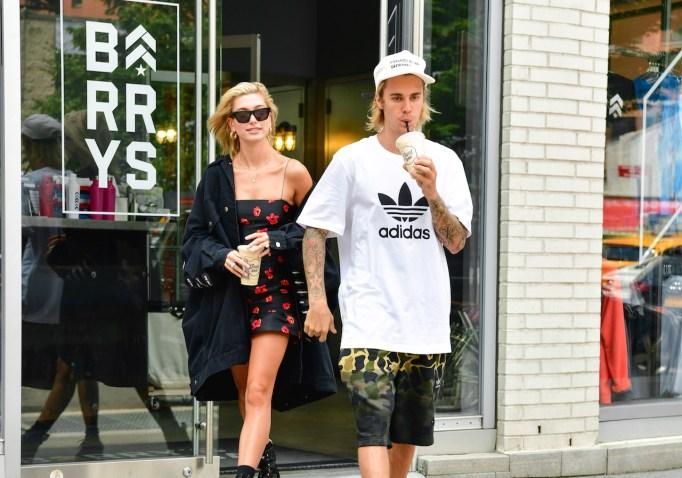 Hailey Baldwin and Justin Bieber shop in New York City