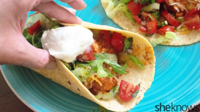 Chipotle-roasted cauliflower tacos