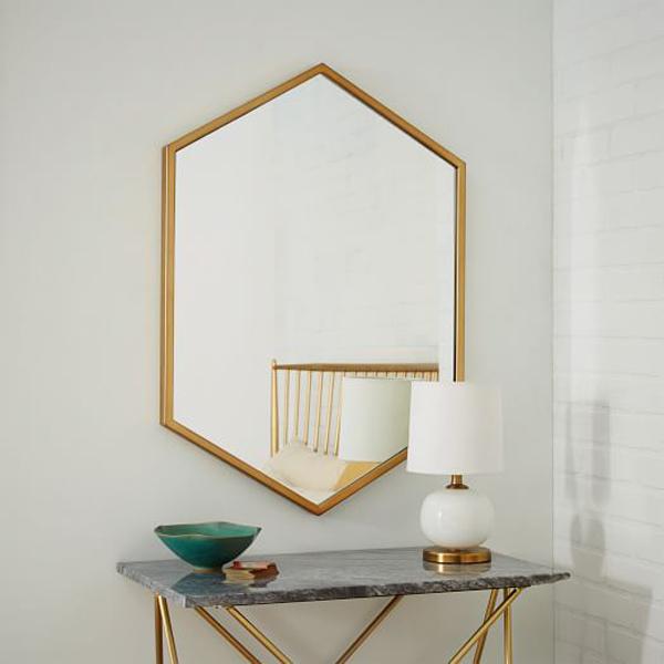 Ways To Nail Metallic Home Decor | Metal Framed Mirror
