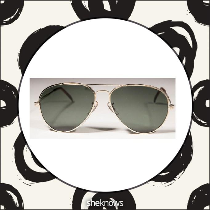 Gold aviator sunglasses from Etsy
