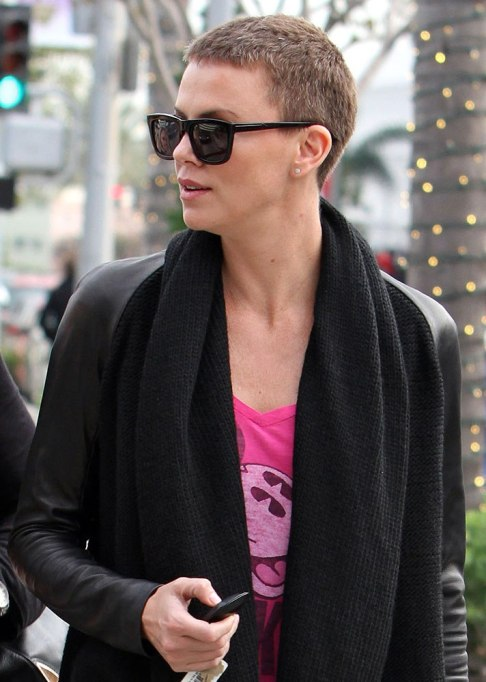 Charlize Theron Buzz Cut