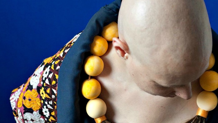 Artist uses hair from cancer patients