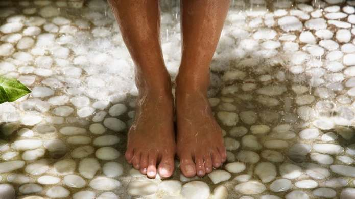 Flip-Flops in the Gym Shower Are