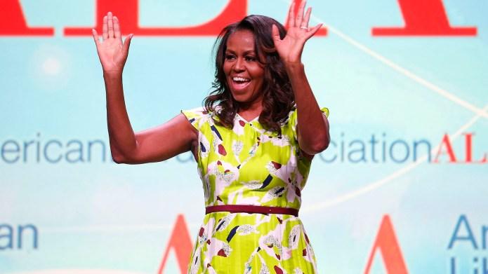 Former U.S. first lady Michelle Obama