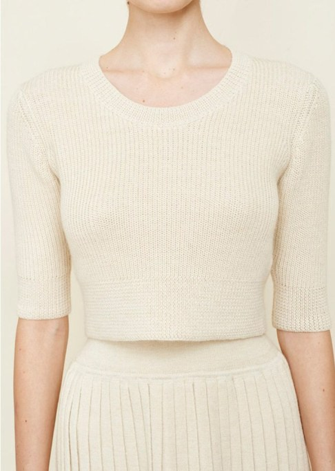Summer Sweaters: Hesperios Wool Ballerina Crop Top   Summer fashion 2017