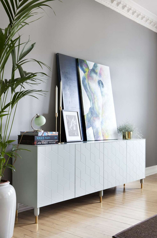 Ikea Hacks That Belong In Your Living Room: Chic cabinet fronts