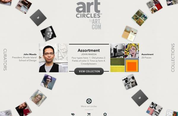 Free artCircles app spins you through