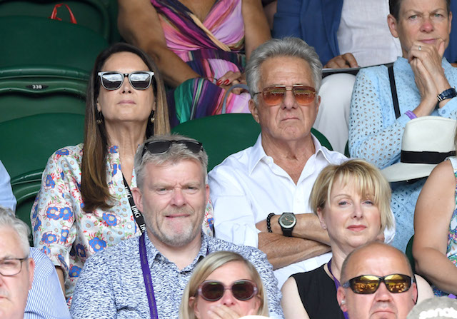 Dustin Hoffman attends day 12 of the Wimbledon Tennis Championships at the All England Lawn Tennis and Croquet Club