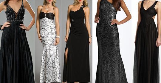5 Black prom dresses