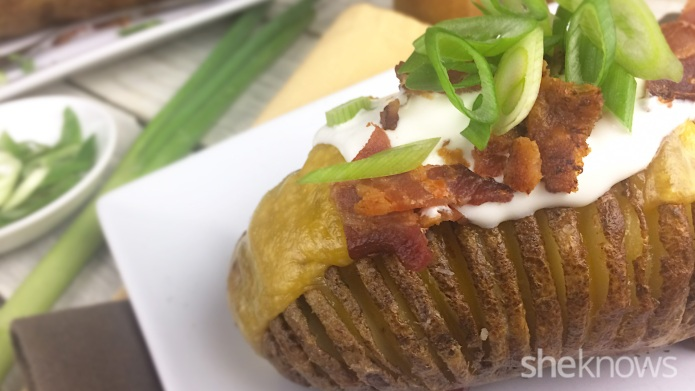 How to slice a potato hasselback-style
