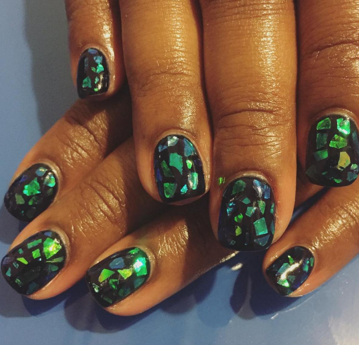 Dark opal nails. Image: sweetandsavvynails/Instagram