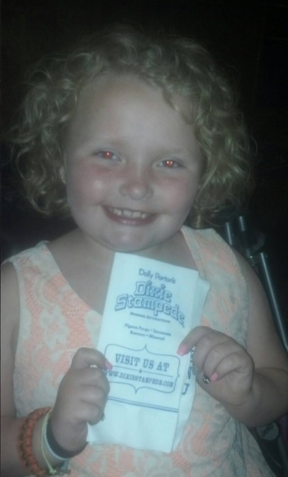 Honey Boo Boo at the Dixie Stampede in May 2013