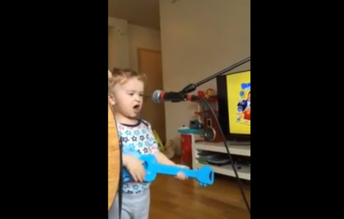 This 2-year-old covering Ed Sheeran will