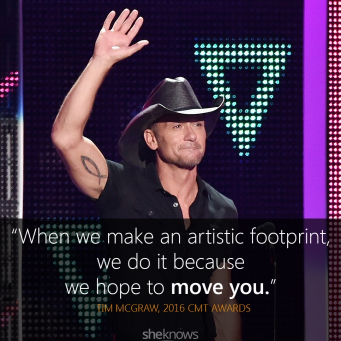 Tim McGraw 2016 CMT Awards