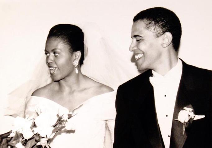 Obamas wedding photo