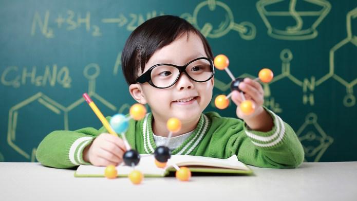 Children learn chemistry