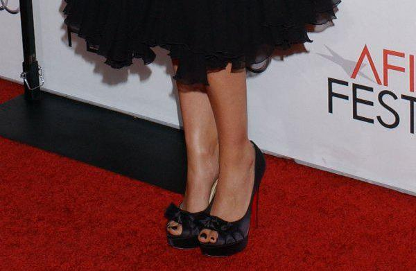 Who wore these bow peeptoe pumps?