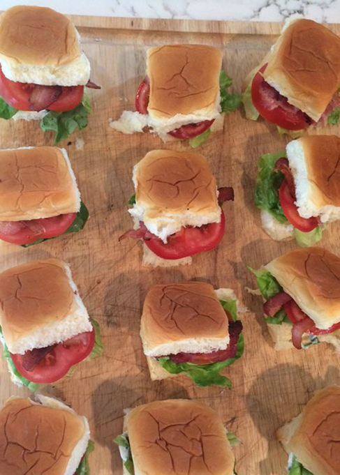 BLT sliders with basil mayo