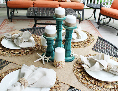 Rustic and natural elements tablescape