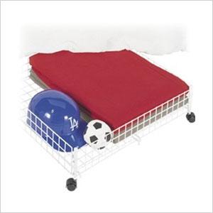 Rolling under bed storage cart