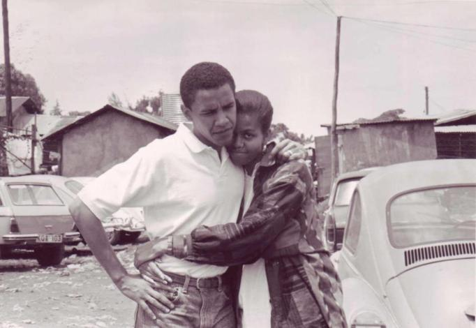 Early photo of the Obamas