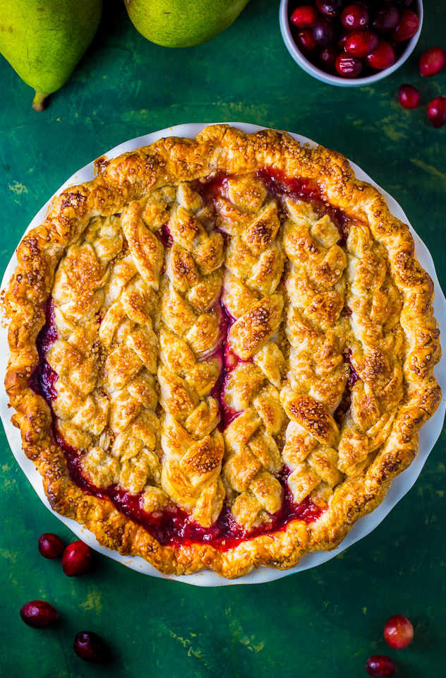 Best Christmas Food and Drink: Cranberry pear pie