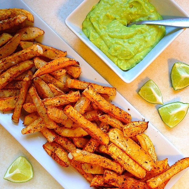 Healthy French Fry Recipes | Summer Eats | Spicy baked rutabaga turnip fries