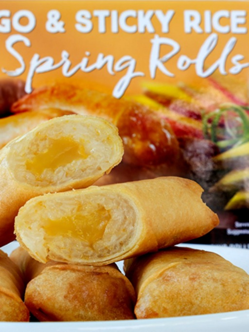 Trader Joe's Game Day Snacks: Mango and Sticky Rice Rolls