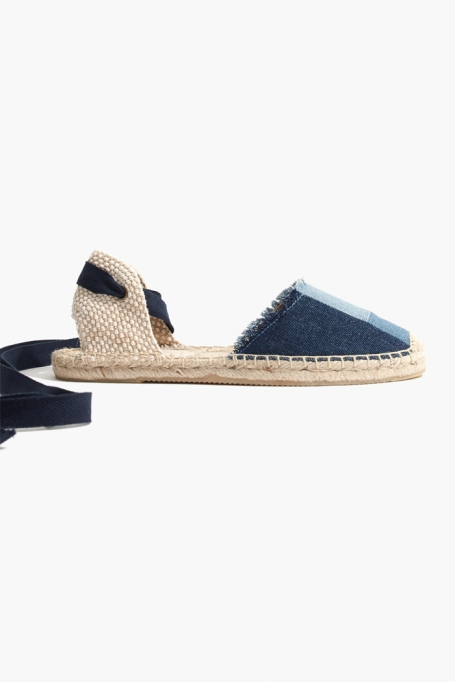 Espadrilles To Scoop Up ASAP | Soludos Espadrilles with Patchwork Denim