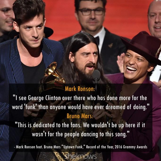Mark Ronson & Bruno Mars 2016 Grammys
