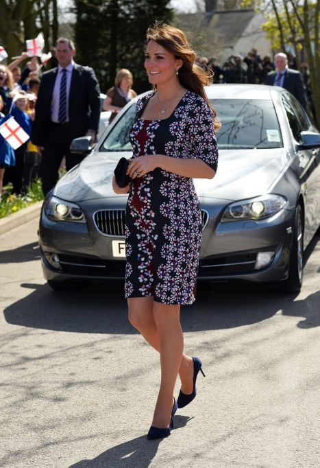 Kate Middleton print maternity dress