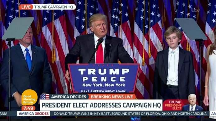 Celebs respond to Donald Trump's win