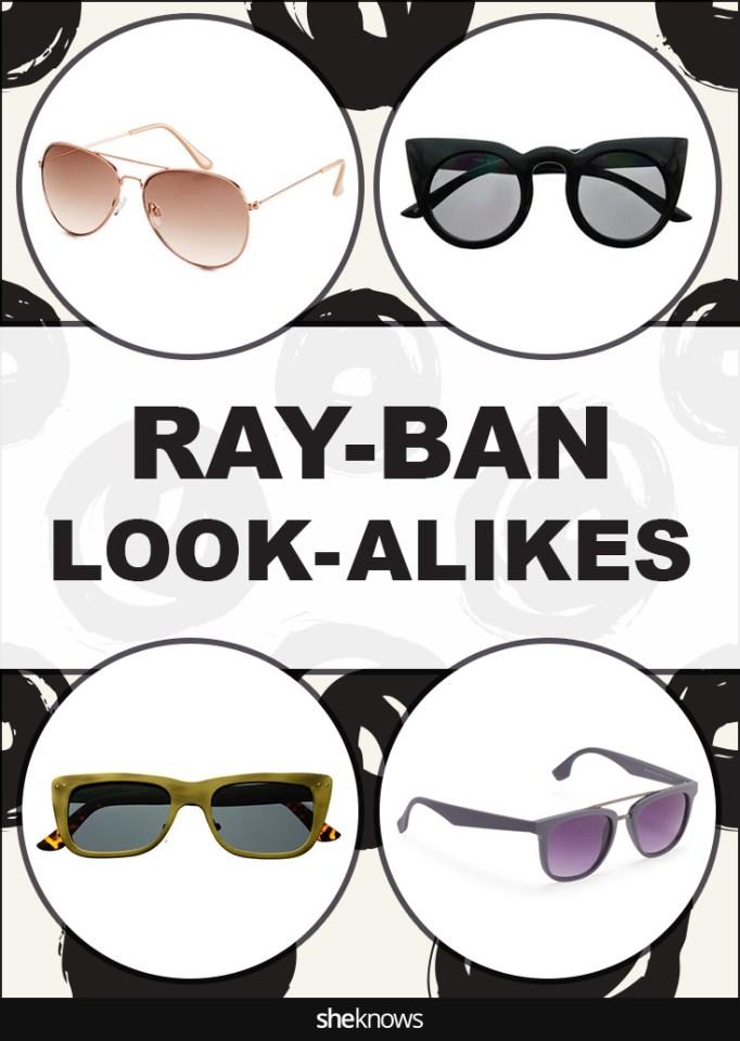 Ray-Ban look-a-likes Pinterest image