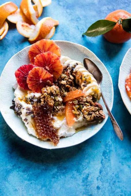 Easy Winter Breakfast Ideas | Winter Citrus Ricotta Breakfast Bowl