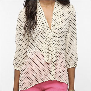 Urban outfitter tie neck tunic