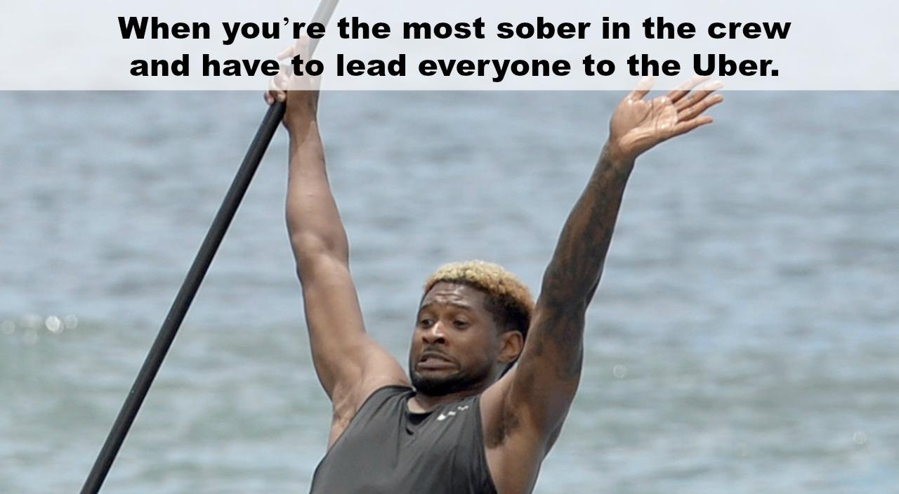 Usher paddleboarding