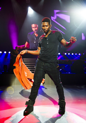 Usher Performing in London