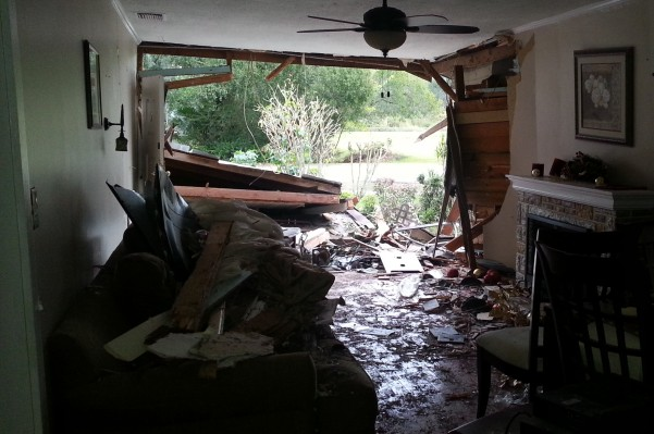 home destroyed on Christmas Day