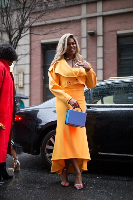 NYFW 2018 Celebrity Sightings: Laverne Cox