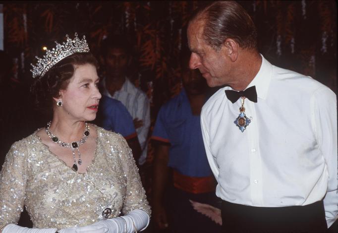 Queen Elizabeth II & Prince Philip in 1982