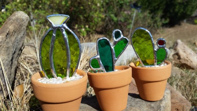 Etsy Decorating Trends: Stained Glass Cactus | Fall Decor