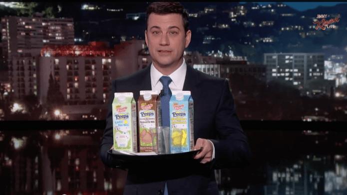 Jimmy Kimmel tried Peeps milk so