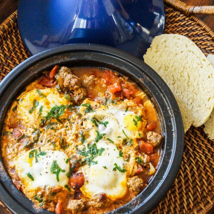 Moroccan meatball and egg tagine kefta recipe