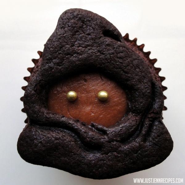 Star Wars Jawa vegan cupcakes