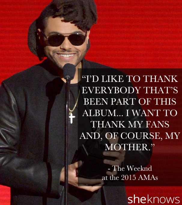 The Weeknd 2015 American Music Awards