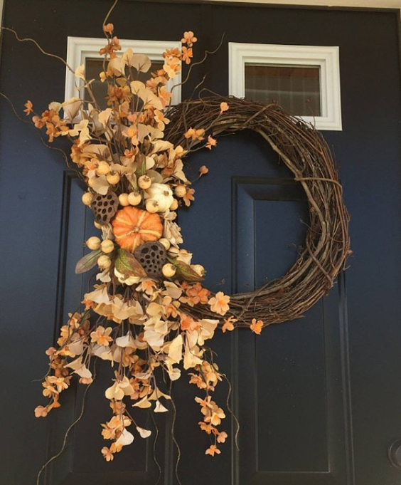 Etsy Decorating Trends: Fall Wreath | Fall Decor