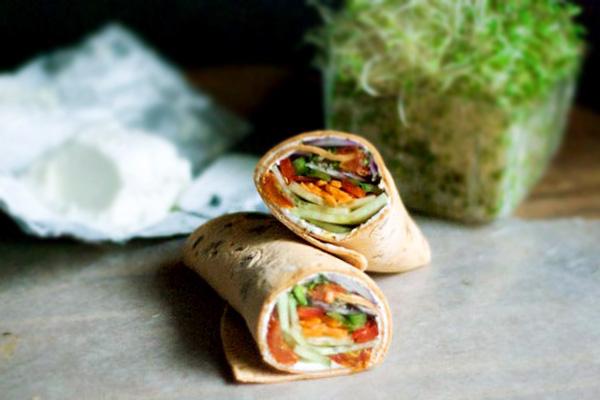 Fresh veggie wraps